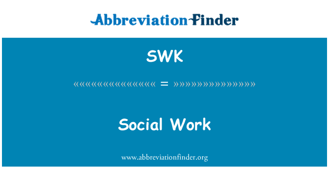 SWK: 社会工作