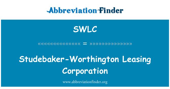 SWLC: Studebaker-Worthington Leasing Corporation