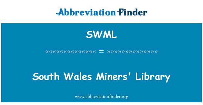SWML: Biblioteka Południowej Walii górników