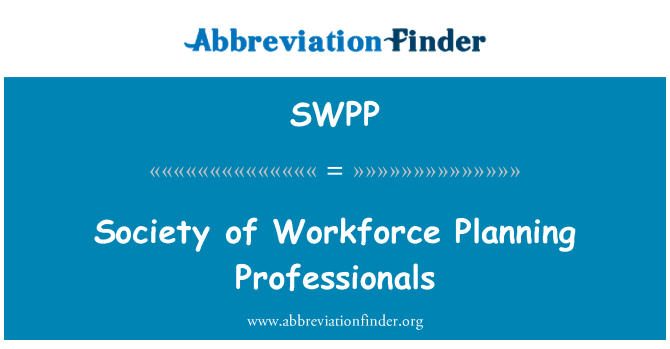 SWPP: Society of Workforce Planning Professionals
