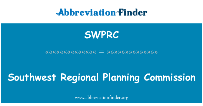 SWPRC: Southwest Regional Planning Commission