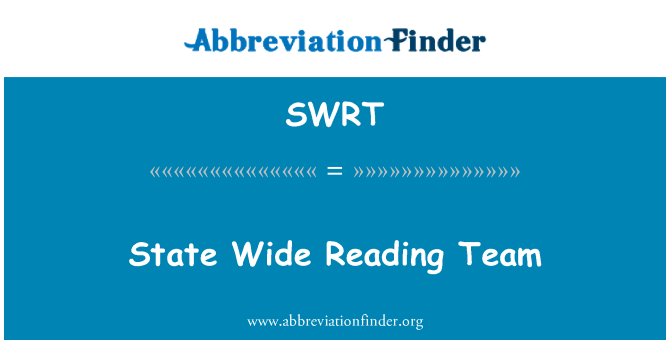 SWRT: State Wide Reading Team