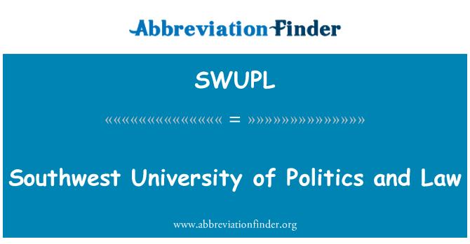 SWUPL: Southwest University of Politics and Law