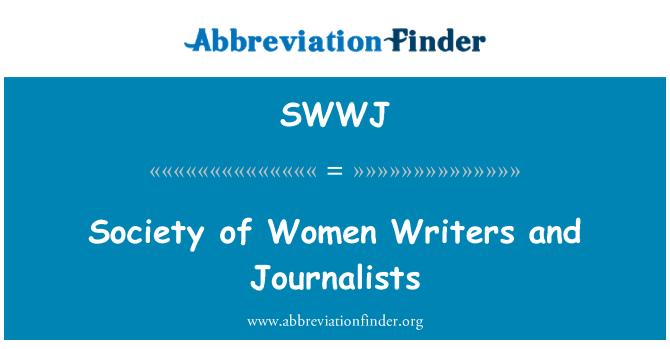 SWWJ: Society of Women Writers and Journalists