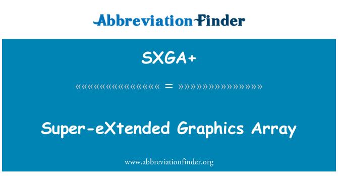 SXGA+: Super-eXtended Graphics Array