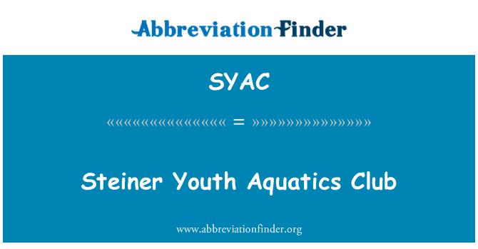 SYAC: Steiner Youth Aquatics Club