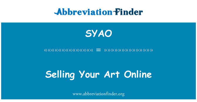 SYAO: Selling Your Art Online