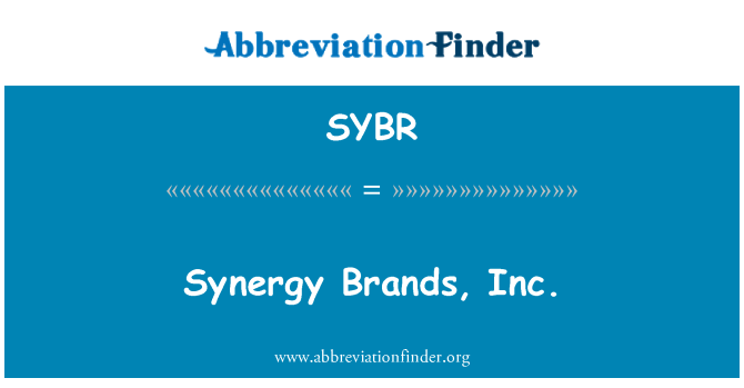 SYBR: Sinerji marka, Inc