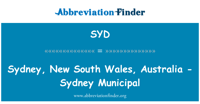 SYD: Sydney, New South Wales, Australia - Sydney Municipal