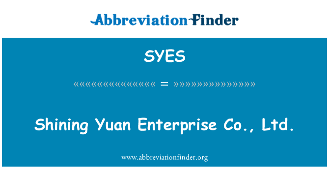 SYES: Yuan Enterprise Co., Ltd. taşlar shining