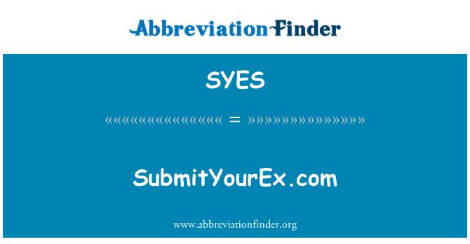 SYES: SubmitYourEx.com