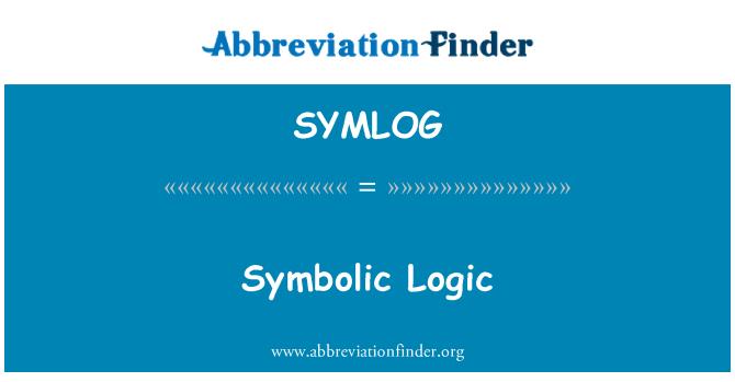 SYMLOG: Symbolic Logic