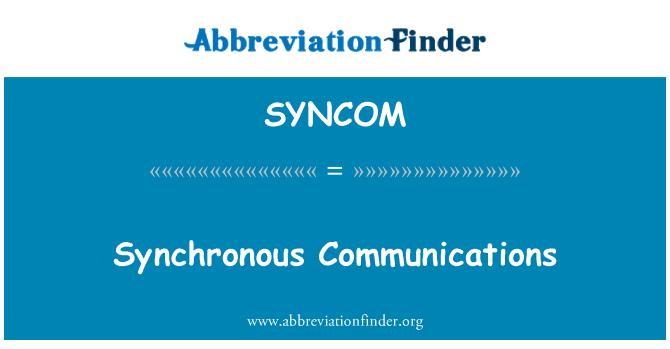 SYNCOM: Comunicación síncrona