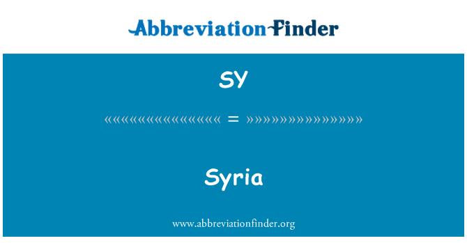 SY: Syria