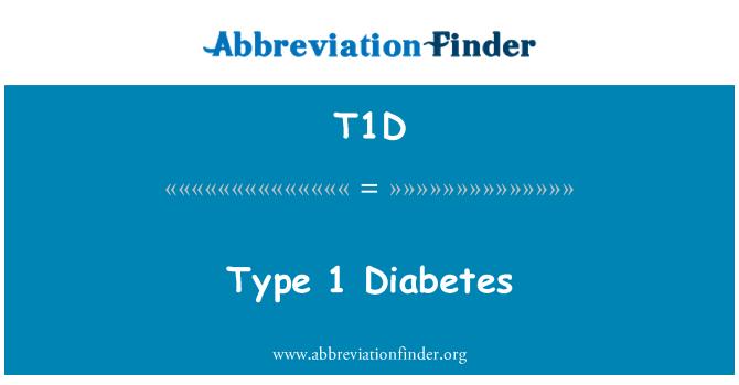 T1D: Diabetes tipo 1