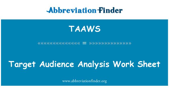 TAAWS: Hoja de trabajo de análisis de audiencia objetivo
