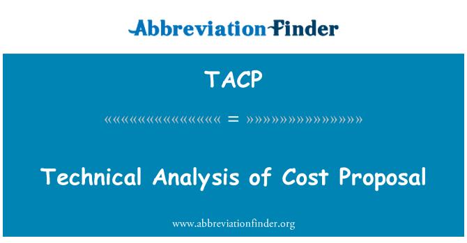 TACP: Análisis técnico de costo propuesta