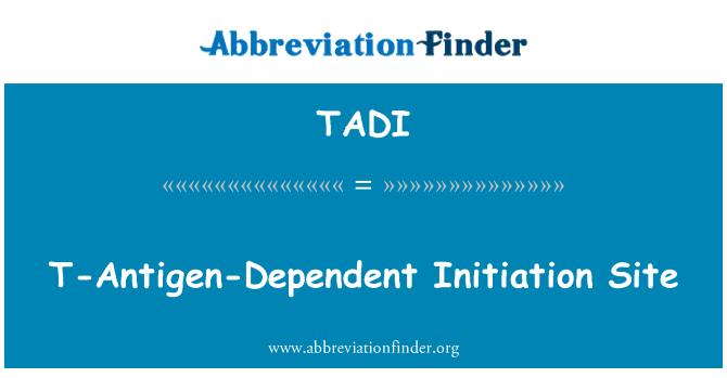 TADI: T-Antigen-Dependent Initiation Site