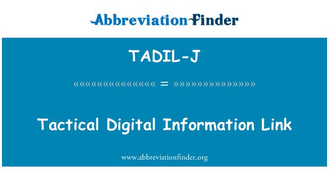 TADIL-J: Taktik Digital enfòmasyon ki lye