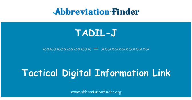 TADIL-J: Link informasi Digital taktis