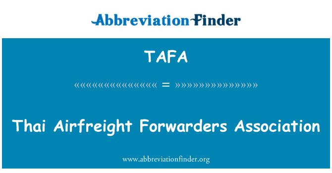 TAFA: Thai Airfreight Forwarders Association