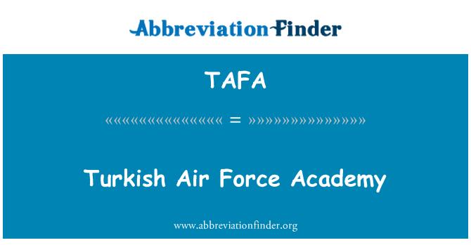 TAFA: Turkish Air Force Academy