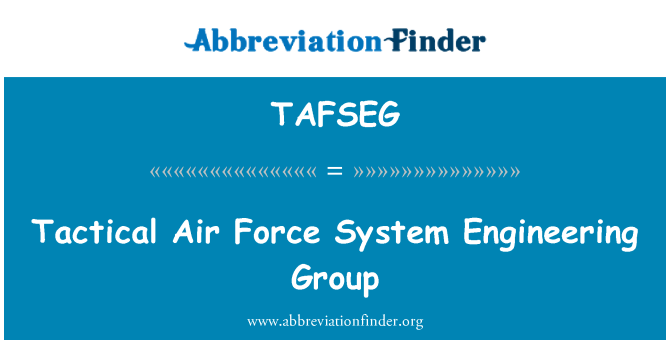 TAFSEG: Tactical Air Force System Engineering Group