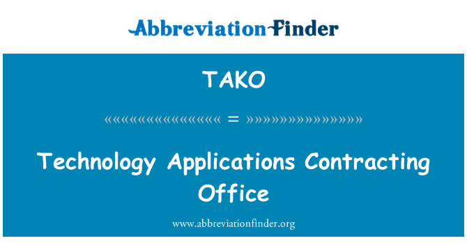 TAKO: Technology Applications Contracting Office