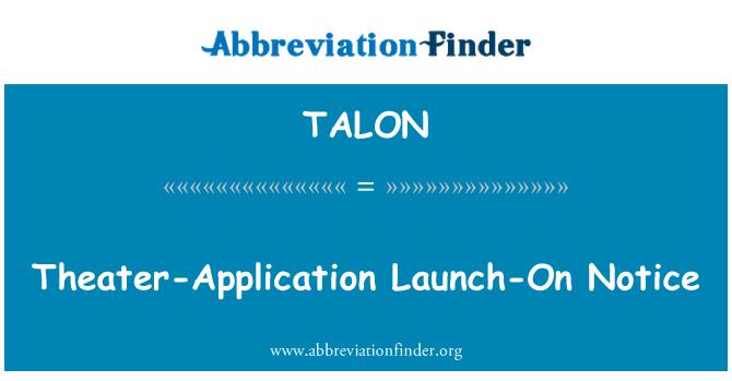 TALON: Teatro-aplicación lanzamiento de aviso