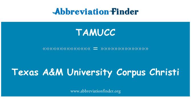 TAMUCC: Texas A & M University Tijelovo