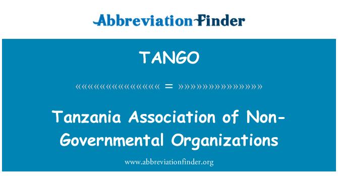 TANGO: Valitsusväliste organisatsioonide ühendus Tansaania
