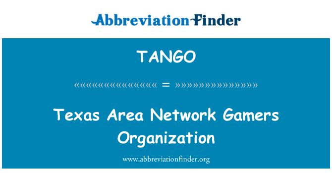 TANGO: Organización de los jugadores de red de área de Texas