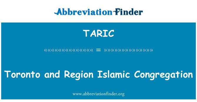 TARIC: Toronto and Region Islamic Congregation