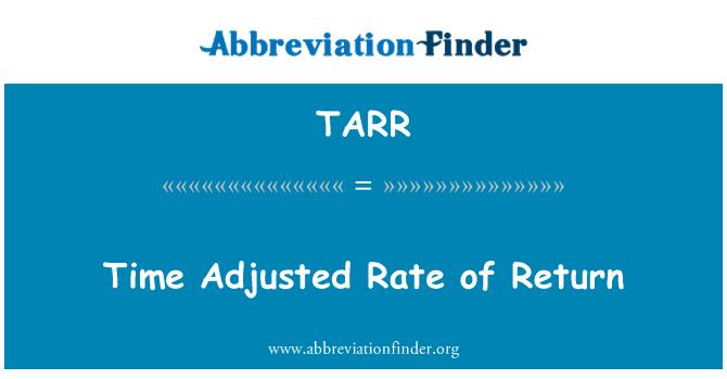 TARR: Zaman düzeltilmiş getiri oranı