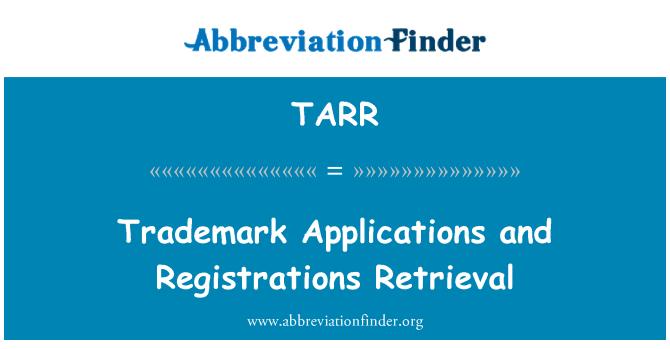 TARR: Marka uygulamaları ve kayıtları alma