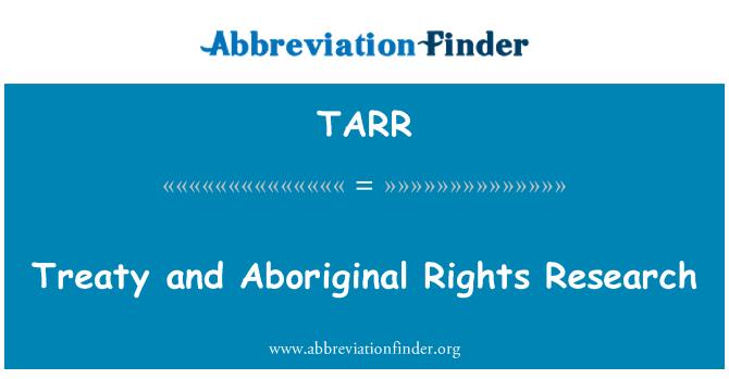 TARR: Asutamislepingu ja aborigeenide õiguste teadus
