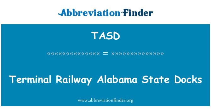 TASD: Terminal demiryolu Alabama Eyalet rıhtım