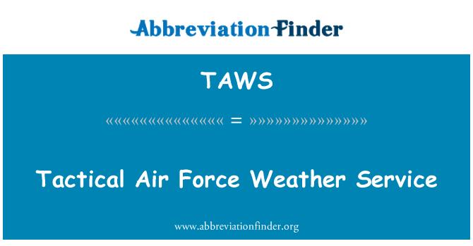 TAWS: Servicio meteorológico de la fuerza aérea táctica