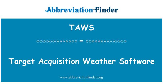 TAWS: Software de tiempo de la adquisición de blanco