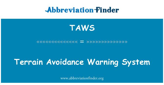 TAWS: Sistema de alerta de evitación terreno