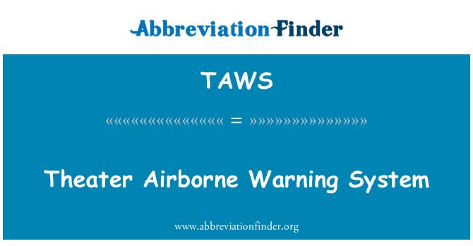 TAWS: Teatro sistema aerotransportado de alerta