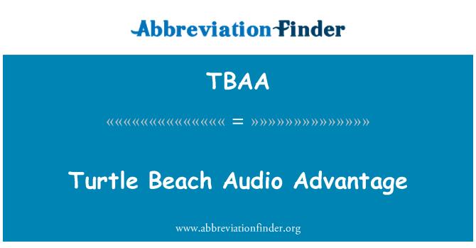 TBAA: Turtle Beach Audio Advantage