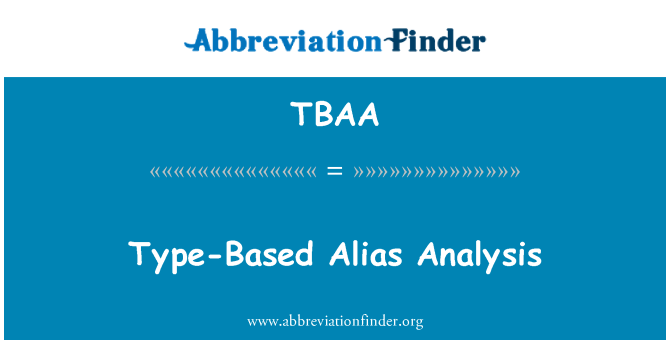 TBAA: عرف قسم پر مبنی تجزیہ