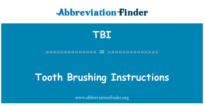 TBI: Instrucciones de cepillado de dientes