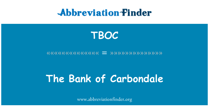 TBOC: The Bank of Carbondale