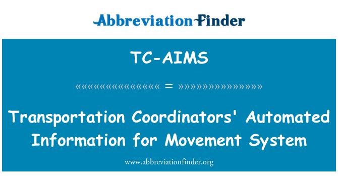 TC-AIMS: Ulaşım koordinatörleri hareket sisteminin bilgilerini otomatik