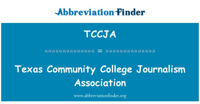 TCCJA: Texas Community College journalistik Association