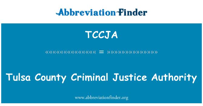 TCCJA: Tulsa County rättsliga myndigheten