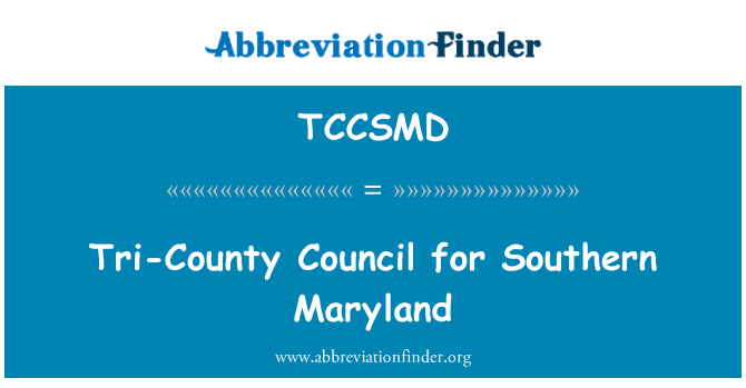 TCCSMD: Tri-County Council for Southern Maryland