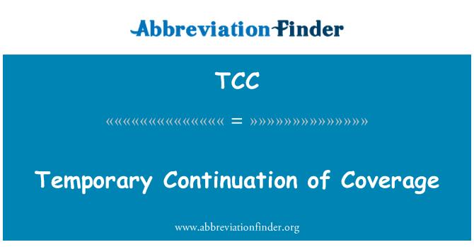 TCC: Continuación temporal de cobertura